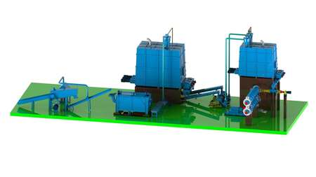 无污染草类秸秆机械清洁生产工艺流程/Mechanical Pulp Process System for  Strawand Farm Green Waste(No Pollution)